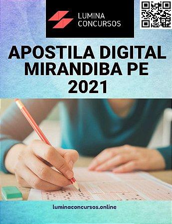Apostila PREFEITURA DE MIRANDIBA PE 2021 Professor de Biologia