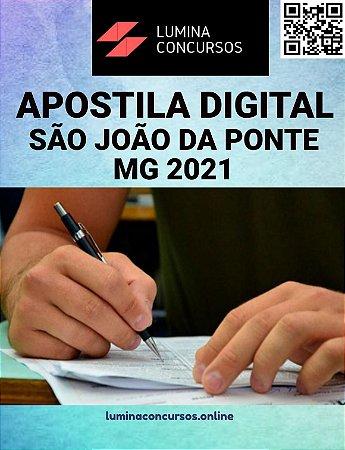 Apostila PREFEITURA DE SÃO JOAO DA PONTE MG 2021 Arquiteto Urbanista