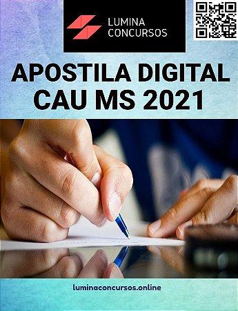 Apostila CAU MS 2021 Arquiteto e Urbanista