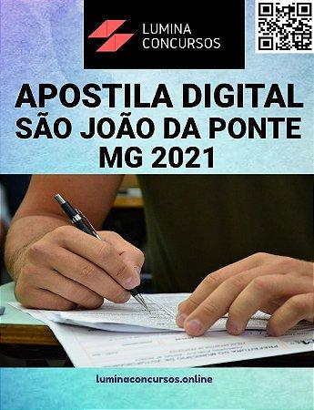 Apostila PREFEITURA DE SÃO JOÃO DA PONTE MG 2021 Fiscal Sanitário
