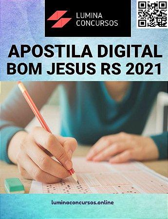 Apostila PREFEITURA DE BOM JESUS RS 2021 Professor de Artes