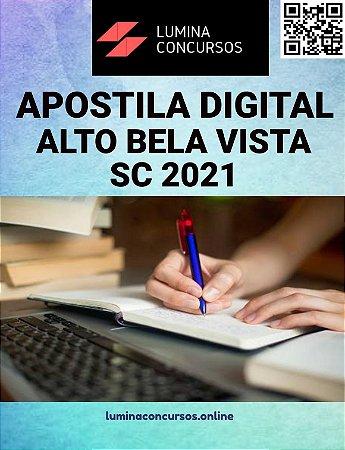 Apostila PREFEITURA DE ALTO BELA VISTA SC 2021 Técnico em Enfermagem