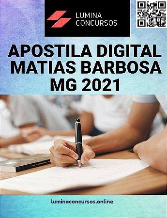 Apostila PREFEITURA DE MATIAS BARBOSA MG 2021 Agente Comunitário de Saúde