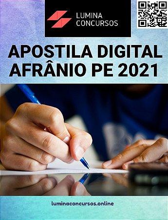 Apostila PREFEITURA DE AFRÂNIO PE 2021 Professor Polivalente