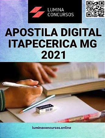 Apostila PREFEITURA DE ITAPECERICA MG 2021 Auxiliar de Consultório Dentário PSF