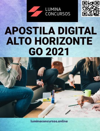 Apostila PREFEITURA DE ALTO HORIZONTE GO 2021 Professor de História