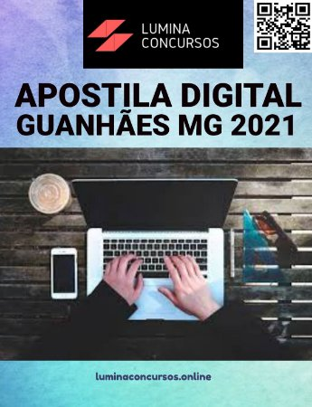 Apostila PREFEITURA DE GUANHÃES MG 2021 Nutricionista