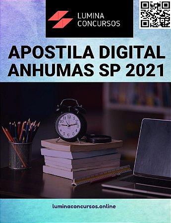 Apostila PREFEITURA DE ANHUMAS SP 2021 Contador
