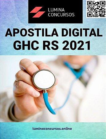 Apostila GHC RS 2021 Técnico de Enfermagem Centro Cirúrgico, Sala de Recuperação e/ou Centro de Material e Esterilização