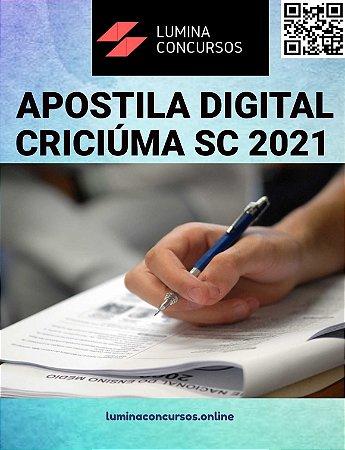 Apostila PREFEITURA DE CRICIÚMA SC 2021 Fiscal de Tributos da Receita Municipal
