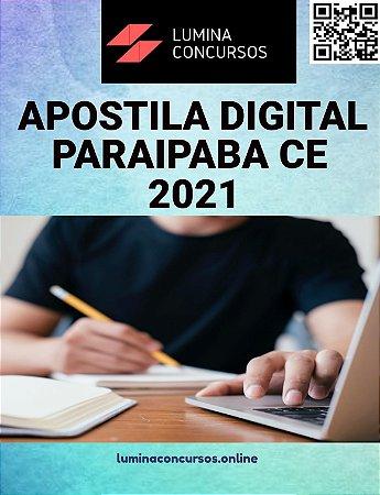 Apostila PREFEITURA DE PARAIPABA CE 2021 Professor PEB II Anos Iniciais