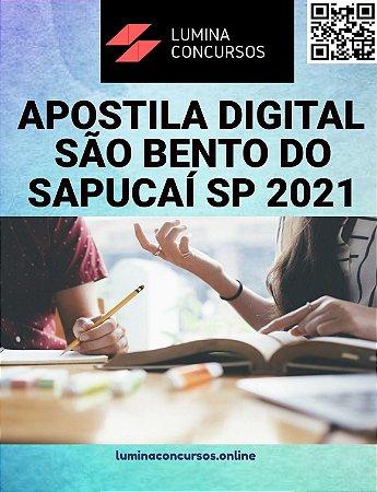 Apostila PREFEITURA DE SÃO BENTO DO SAPUCAÍ SP 2021 Professor de Ensino Fundamental I