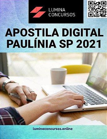 Apostila PREFEITURA DE PAULÍNIA SP 2021  Engenheiro de Segurança do Trabalho