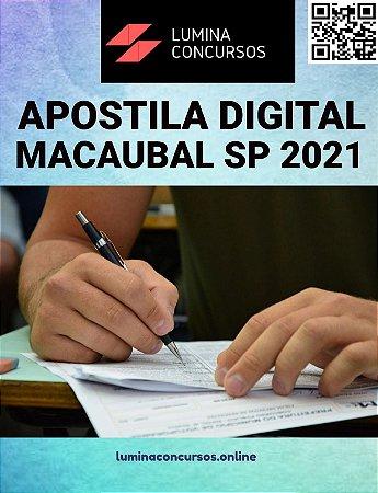 Apostila PREFEITURA DE MACAUBAL SP 2021 Assistente Social