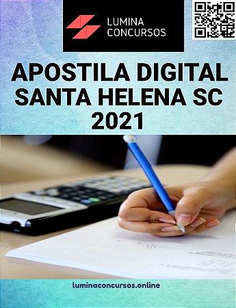 Apostila PREFEITURA DE SANTA HELENA SC 2021 Pedagogo