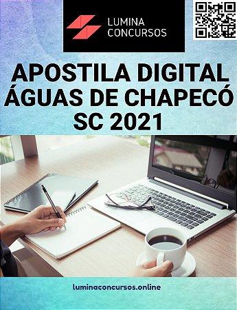 Apostila PREFEITURA DE ÁGUAS DE CHAPECÓ SC 2021 Analista em Recursos Humanos
