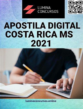 Apostila PREFEITURA DE COSTA RICA MS 2021 Professor de Língua Inglesa