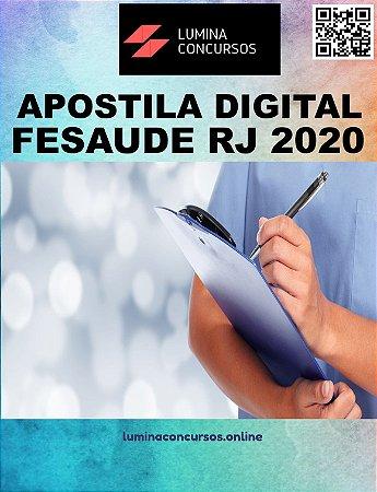Apostila FESAUDE RJ 2020 Assistente Social