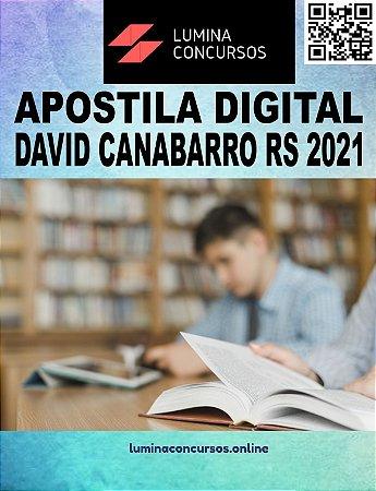 Apostila PREFEITURA DE DAVID CANABARRO RS 2021 Tesoureiro