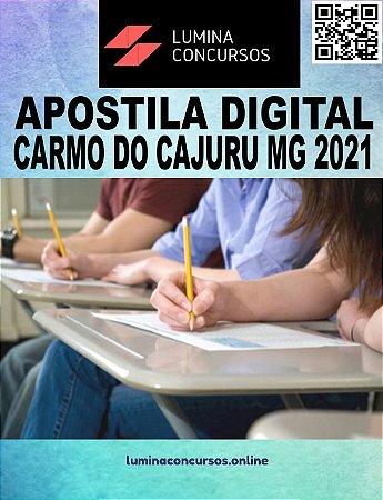 Apostila PREFEITURA DE CARMO DO CAJURU MG 2021 Oficial Executivo