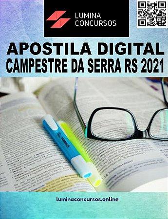 Apostila PREFEITURA DE CAMPESTRE DA SERRA RS 2021 Professor de Português/Inglês