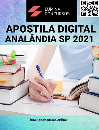 Apostila PREFEITURA DE ANALÂNDIA SP 2021 Professor de Educação Básica II - Educação Física