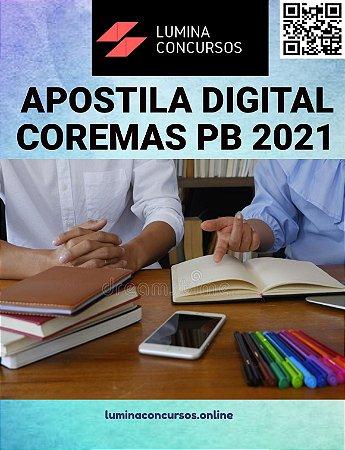 Apostila COREMAS PB 2021 Fiscal de Vigilância Sanitária