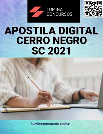 Apostila PREFEITURA DE CERRO NEGRO SC 2021 Professor de Inglês
