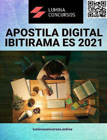 Apostila PREFEITURA DE IBITIRAMA ES 2021 Farmacêutico - Generalista