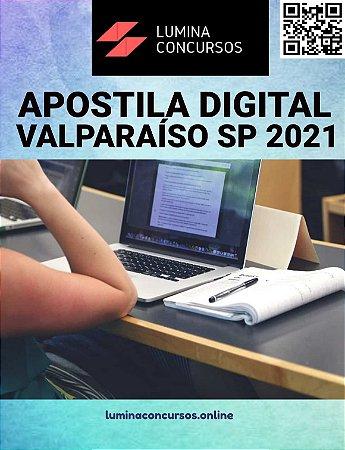Apostila PREFEITURA DE VALPARAÍSO SP 2021 Professor de Educação Infantil