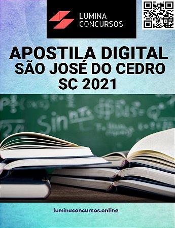 Apostila PREFEITURA DE SÃO JOSÉ DO CEDRO SC 2021 Procurador Municipal