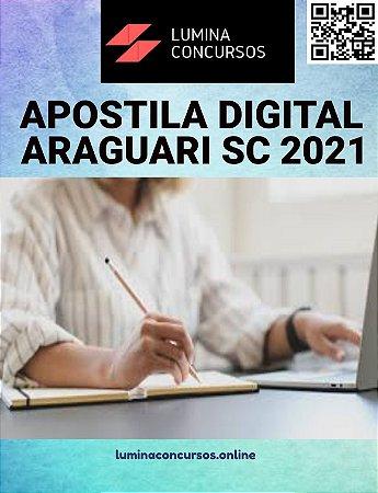 Apostila PREFEITURA DE ARAGUARI SC 2021 Técnico Agrícola
