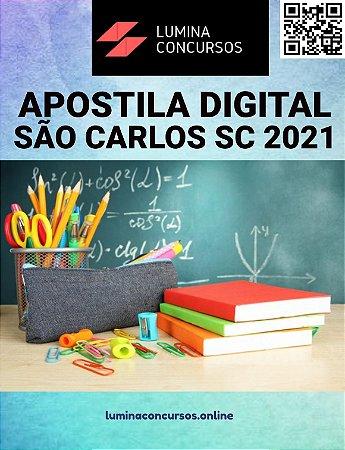 Apostila PREFEITURA DE SÃO CARLOS SC 2021 Controlador Interno