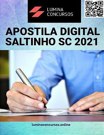Apostila PREFEITURA DE SALTINHO SC 2021 Farmacêutico Bioquímico
