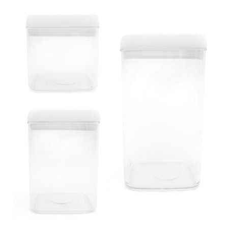 Conjunto 3 Potes Herméticos em Acrílico - 1,0L / 1,8L / 2,4L