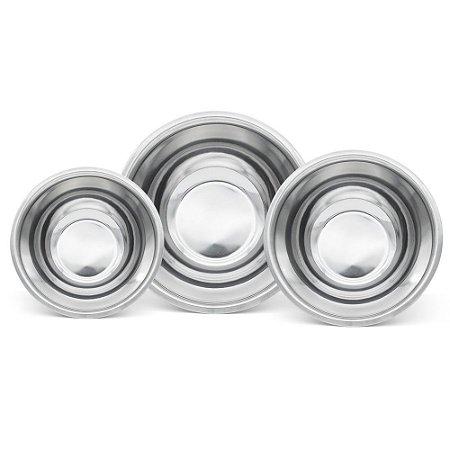 Conjunto 3 Bowls em Aço Inox