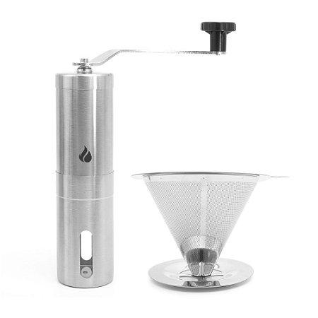 Kit Moedor de Café e Filtro Inox Tam. 102