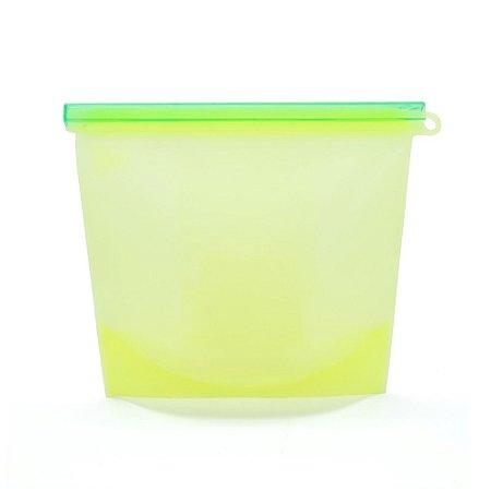 Porta Alimentos em Silicone para Freezer e Microondas