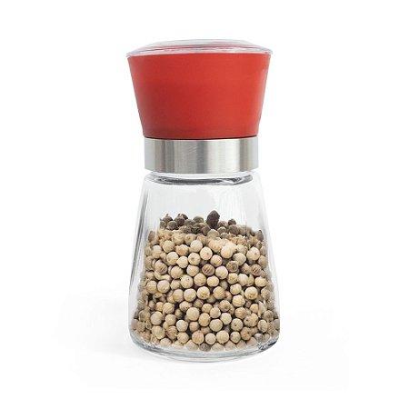 Moedor Compacto para Sal e Pimenta - Vermelho