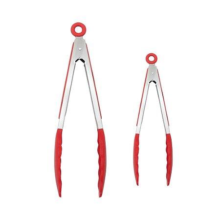 Kit 2 Pegadores em SIlicone e Aço Inox - 29,5cm e 21,5cm