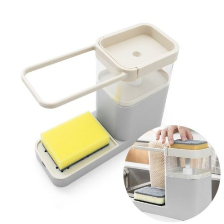 Dispenser Multiuso para Pia Max Clean - Cinza
