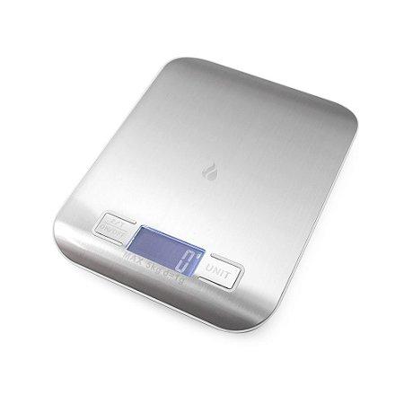 Balança Inox Digital de Precisão para Cozinha - até 5kg
