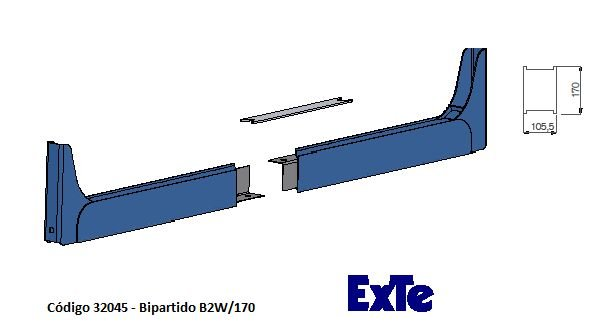Welding Cutted (Bipartido) - modelo B2/170mm