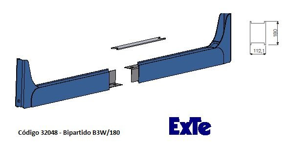 Welding Cutted (Bipartido) - modelo B3/180mm