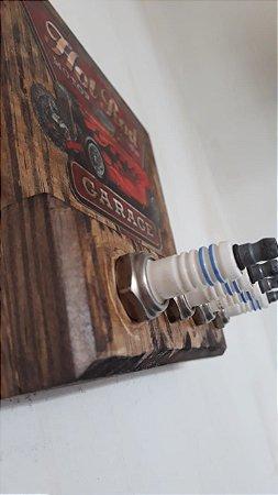Porta Chaves Personalizado - Modelo 1 Rústico Vintage