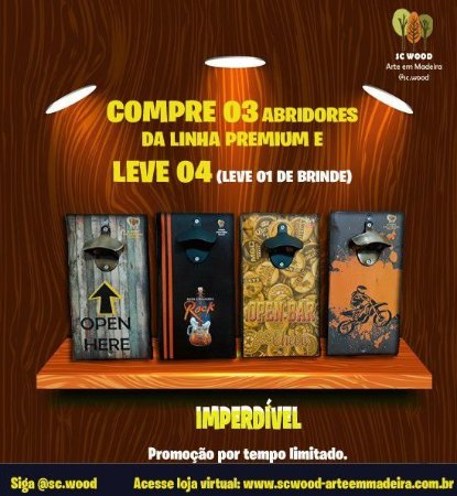 KIT COMBO ABRIDOR DE GARRAFA MAGNÉTICO PREMIUM - COMPRE 03 E LEVE 04