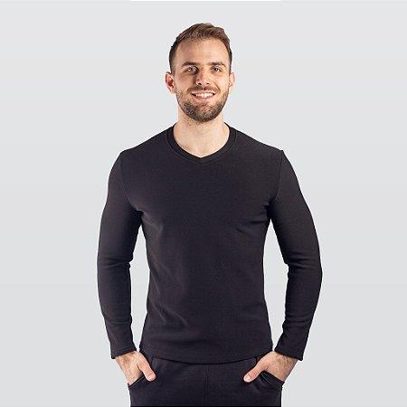 Camiseta Básica Térmica Manga Longa Masculina