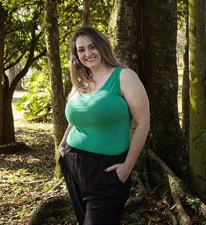 Regata de Ribana Feminina Hoje Collection Verde