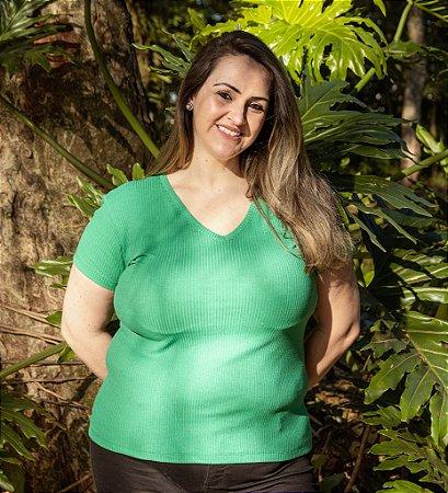 Blusa de Ribana Feminina Hoje Collection Verde