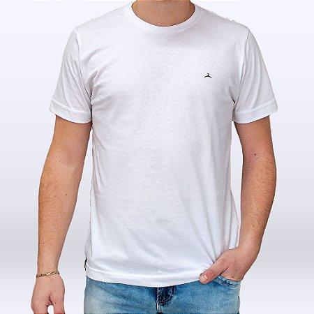 Camiseta Masculina Manga Curta Branca Marca Hoje